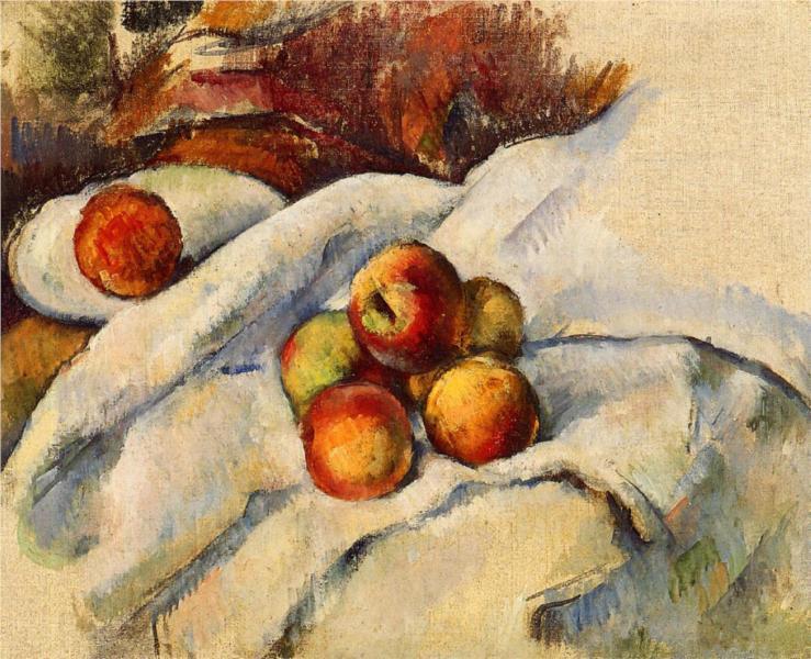 Cezanne_apples-on-a-sheet