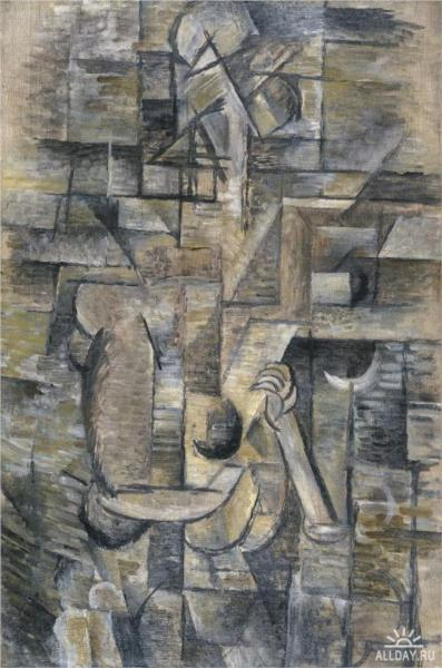 Braque_Woman_with_a_Mandoliin_1910