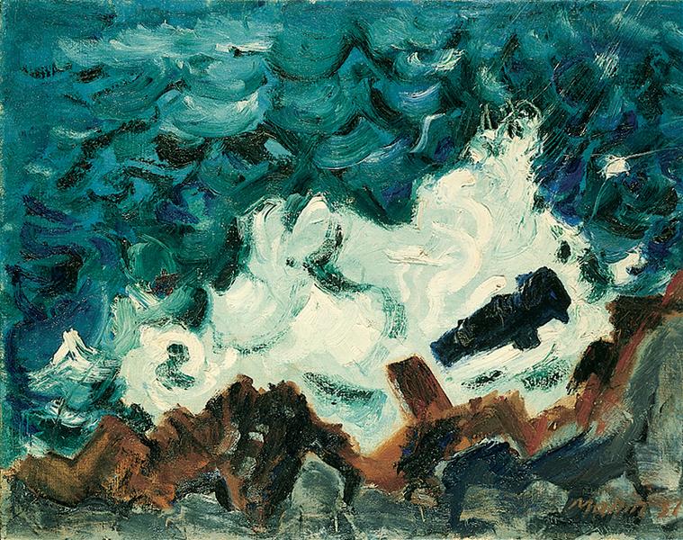 Marin_waveOnRock_1937