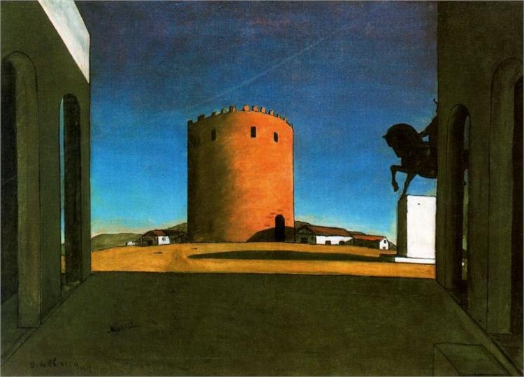 Chirico_the-red-tower-1913