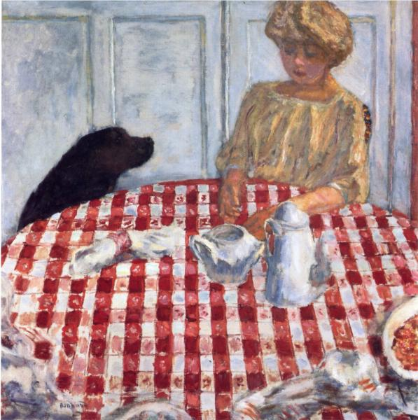 Bonnard_the-red-checkered-tablecloth