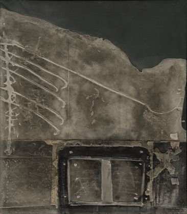 Tapies_gray_relief_on_black1959
