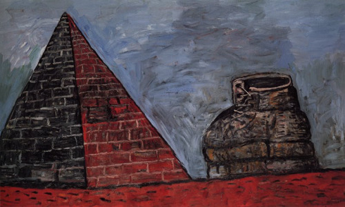 Guston_PyramidAndShoe1977