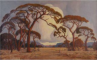 Pierneef_1928_A_Summer_Afternoon,_Bushveld