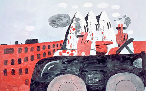 guston_ridingAround1969