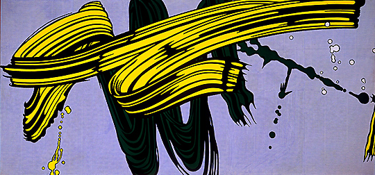 lichtenstein_yellow_green_brushstrokes
